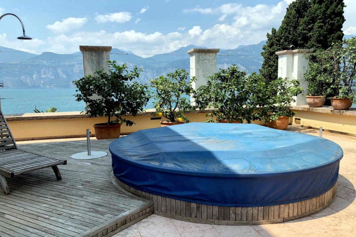 Villa Art Nouveau for sale Malcesine Lake Garda 67