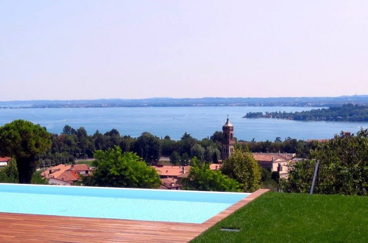 Italy Padenghe sul Garda villa lake view and pool