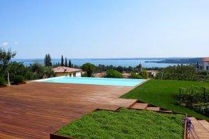 Italy Padenghe sul Garda villa lake view