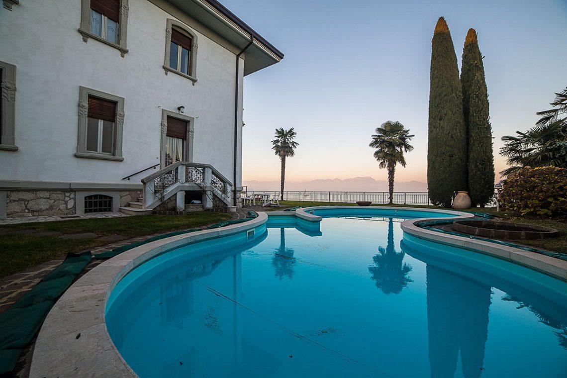 Lake Garda waterfront Art Nouveau villa 14