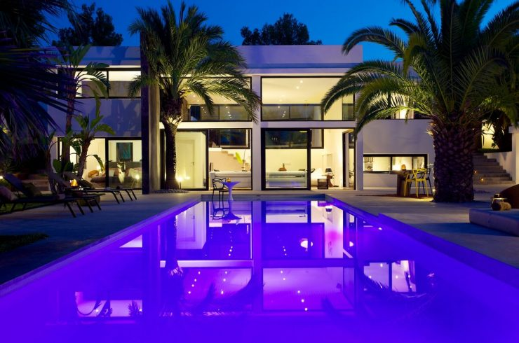 Ibiza rentals villa with pool and exotic garden