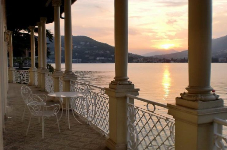 Waterfront historic villa for sale Lake Como