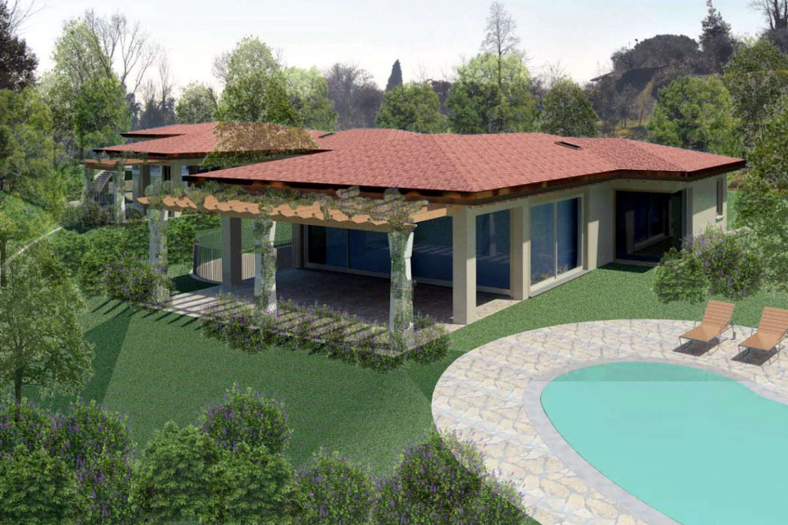 Building land Lake Garda with villa approved project 09