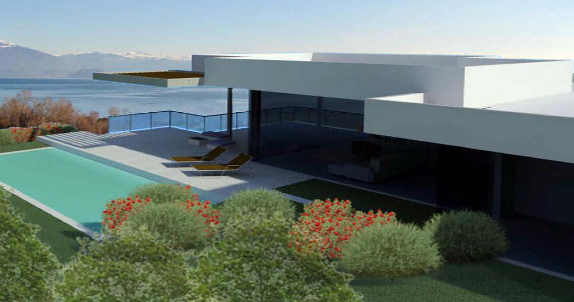 Building land Lake Garda with villa approved project slider