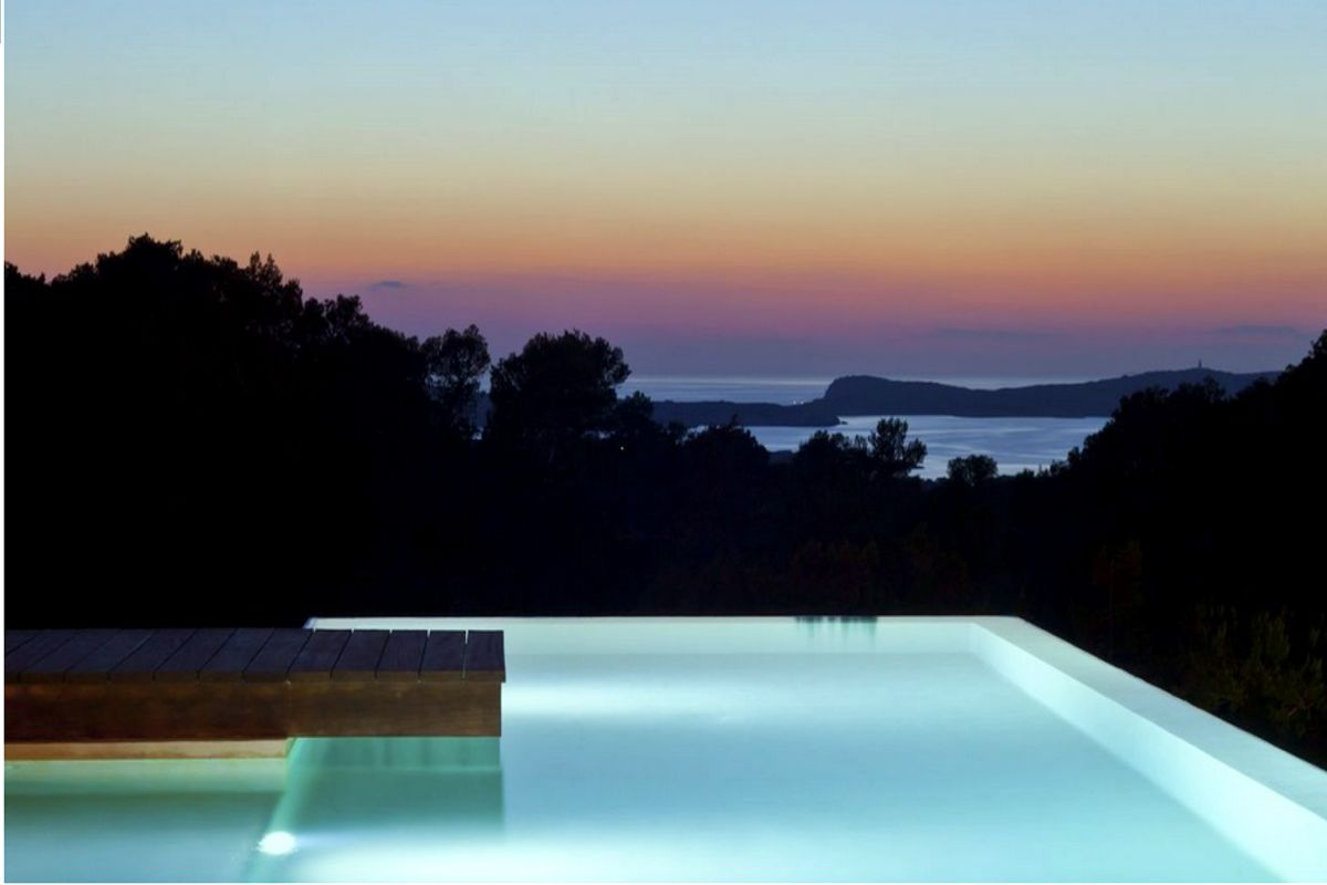 Ibiza villa rent with sea and sunset views