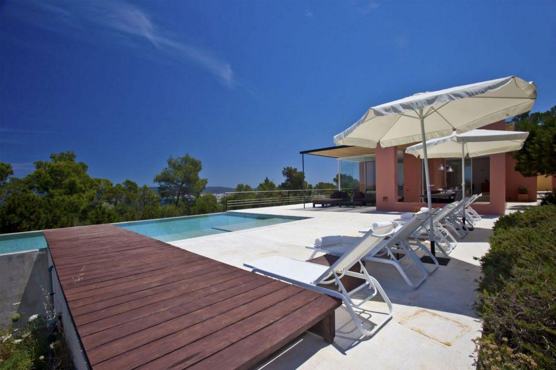 Ibiza villa rent with sea and sunset views 08