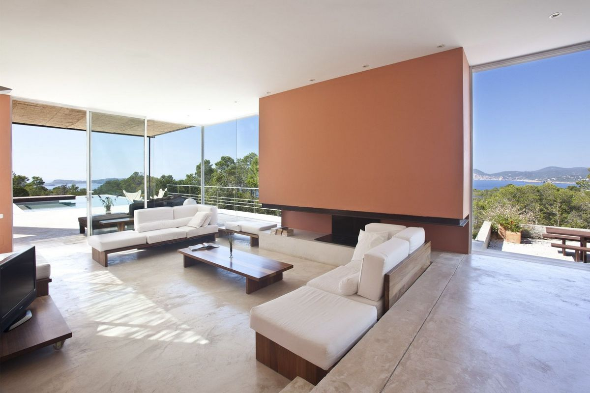 Ibiza villa rent with minimalist design