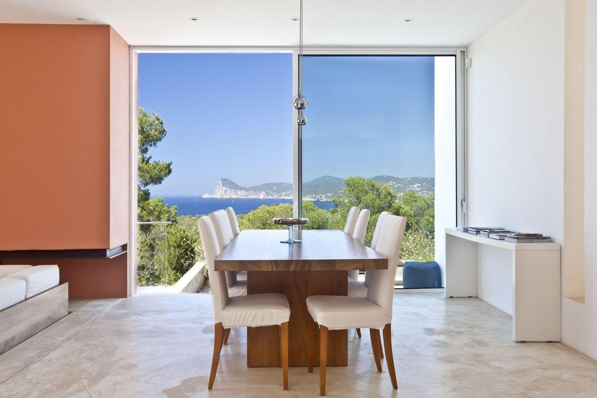 Ibiza villa rent with sea and sunset views