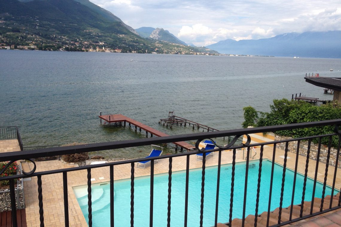 Waterfront villa Lake Garda rent, pool, beach, private dock 24