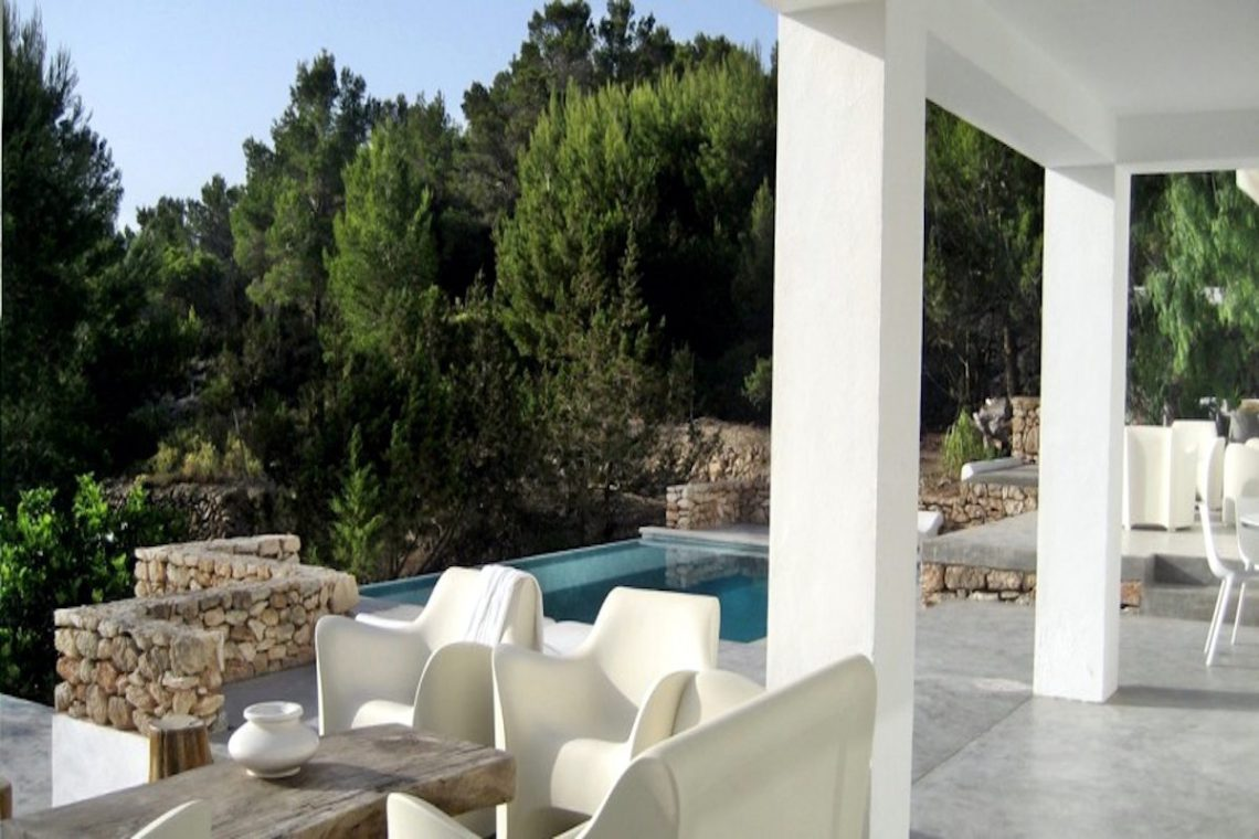 Sea view villa Ibiza for rent with sea and sunset views 08