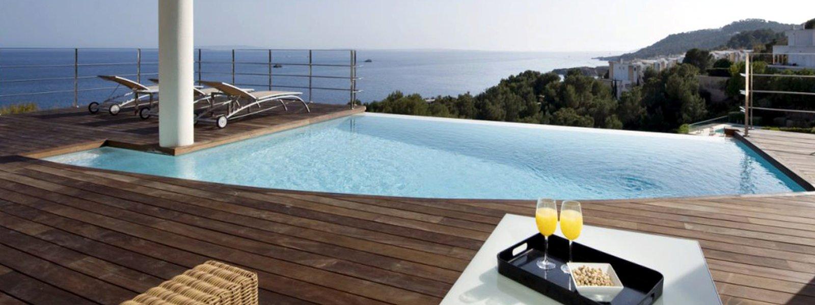 Villa ibiza rental panoramic view on sea, Formentera and sunset
