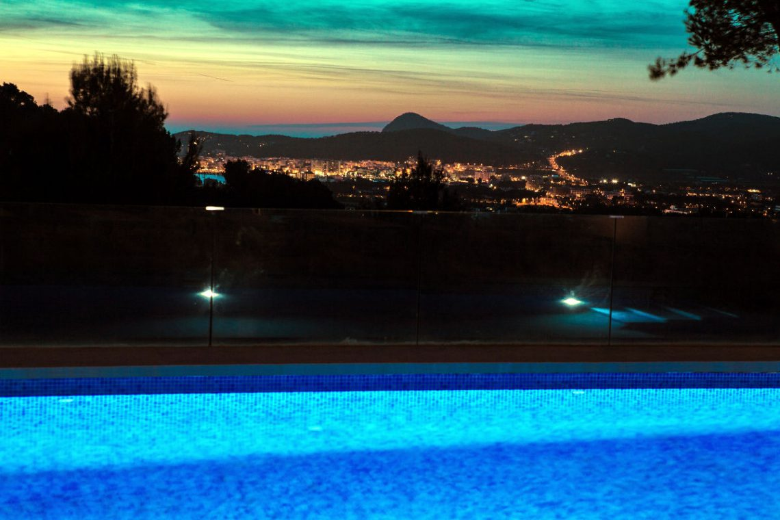 Luxury Villa Ibiza sea view for rent with pinewood 01
