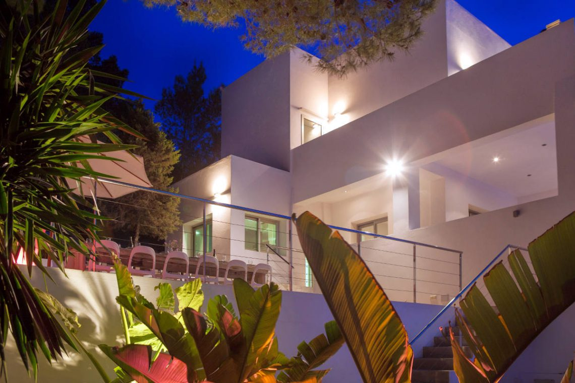 Luxury Villa Ibiza sea view for rent with pinewood 06