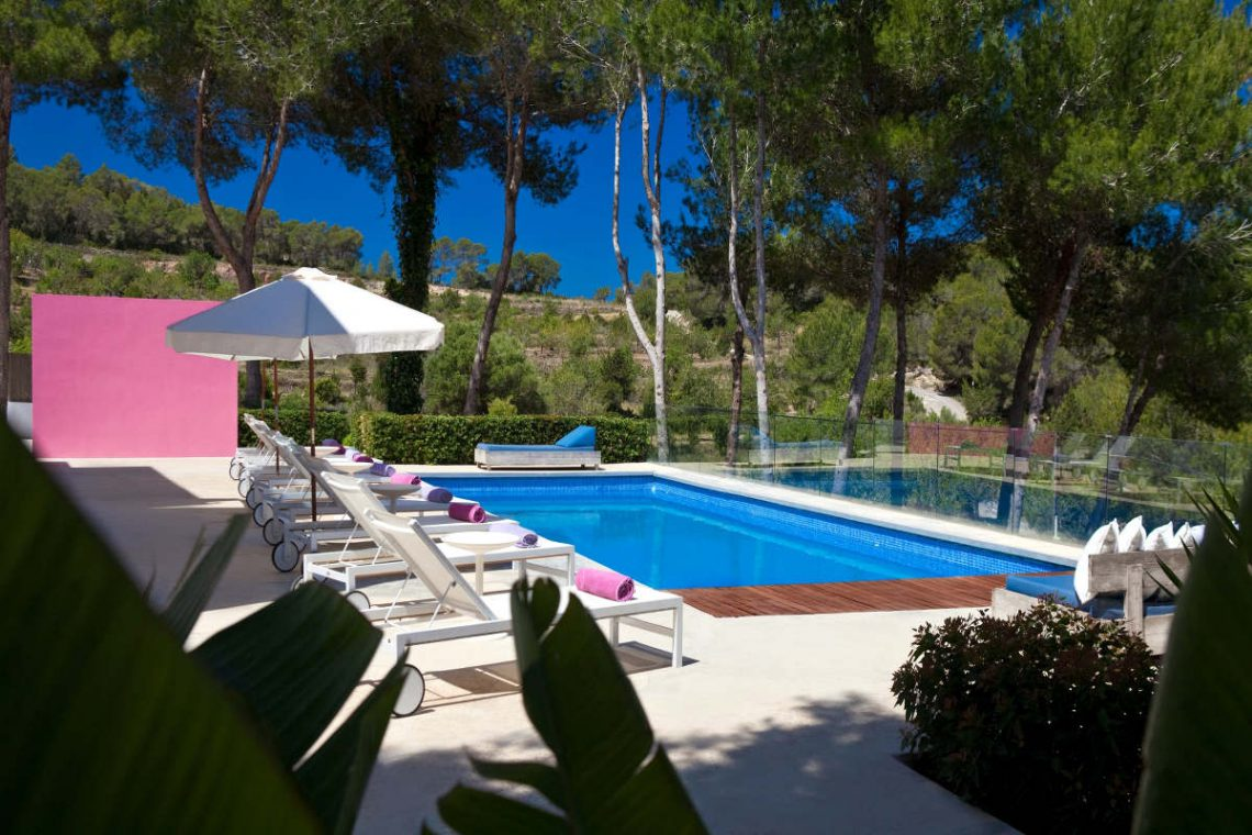 Luxury Villa Ibiza Sea View for rent with pinewood 09