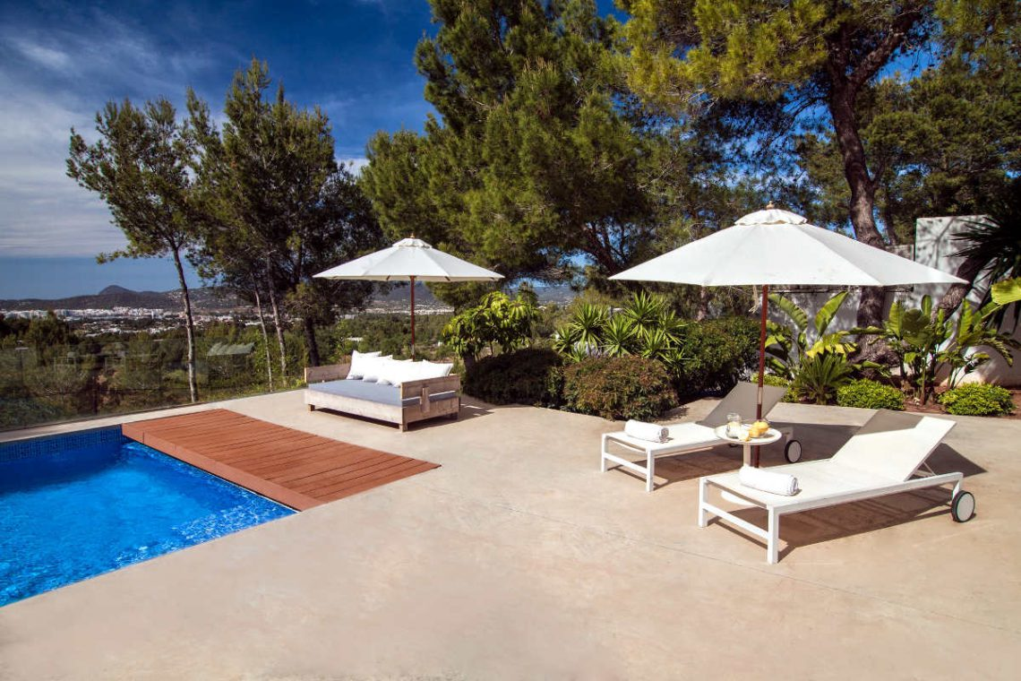 Luxury Villa Ibiza Sea View for rent with pinewood 13