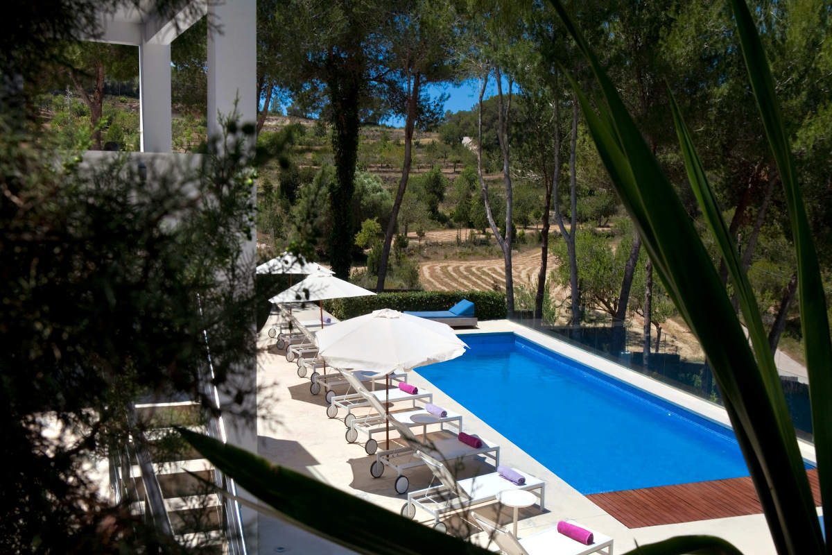 Luxury Villa Ibiza Sea View for rent with pinewood