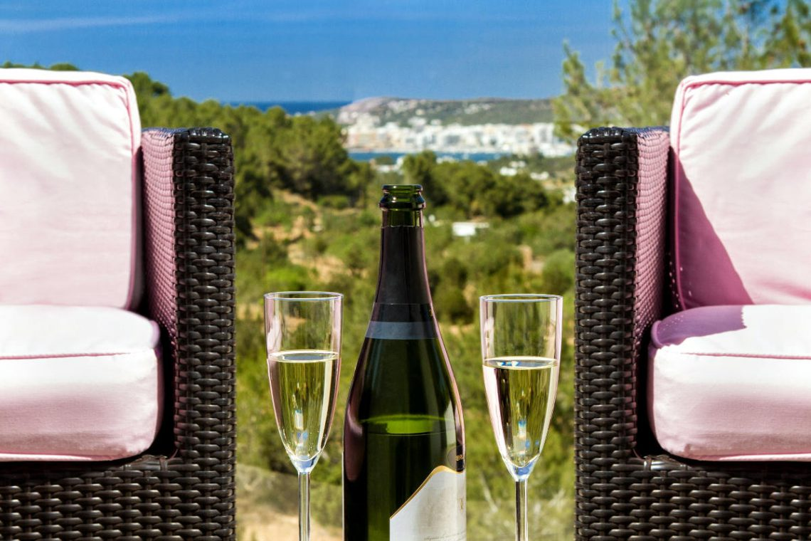 Luxury Villa Ibiza sea view for rent with pinewood 16