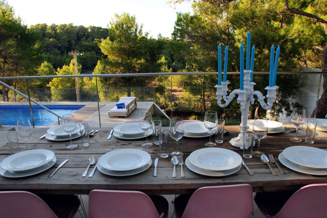 Luxury Villa Ibiza sea view for rent with pinewood 19