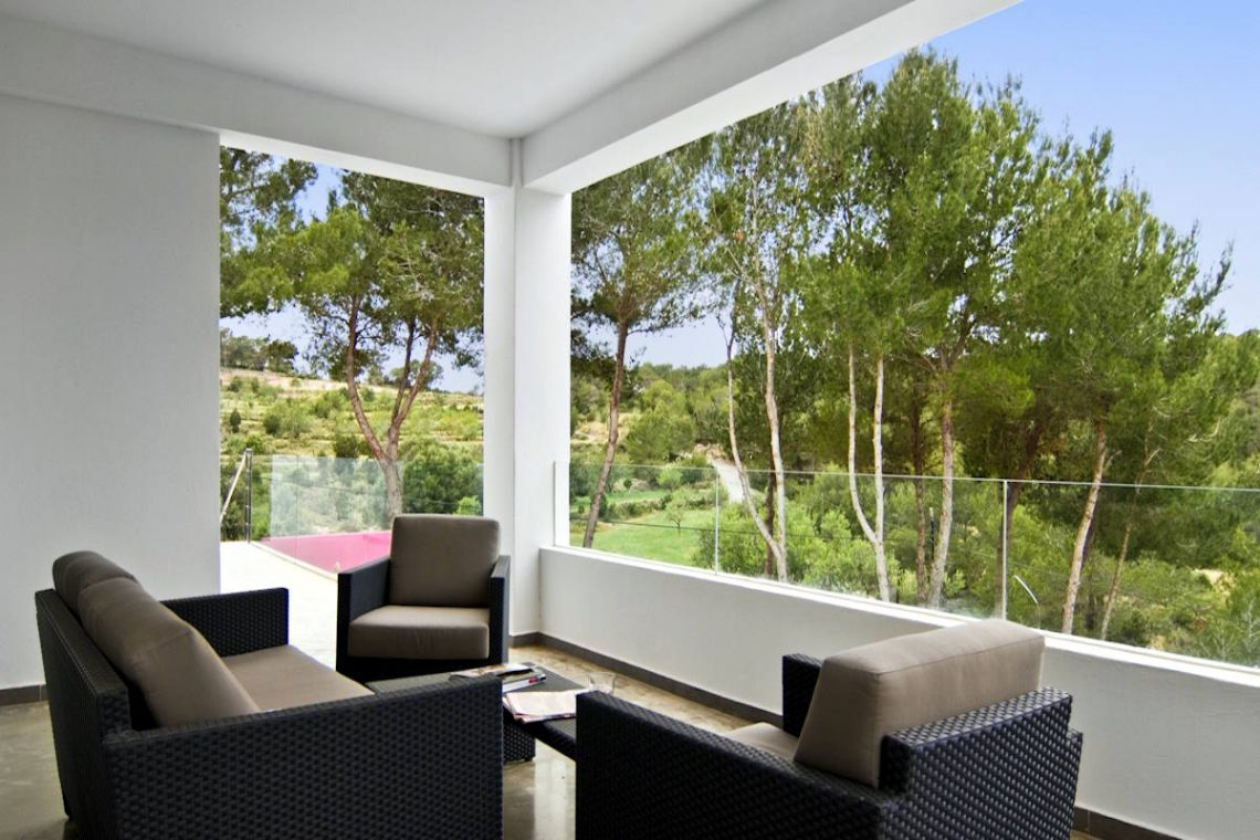Luxury Villa Ibiza Sea View for rent with pinewood 28