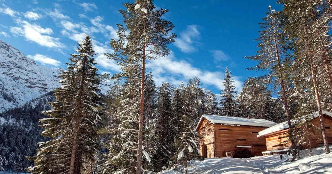 Dolomites chalet Plan de Corones in natural park