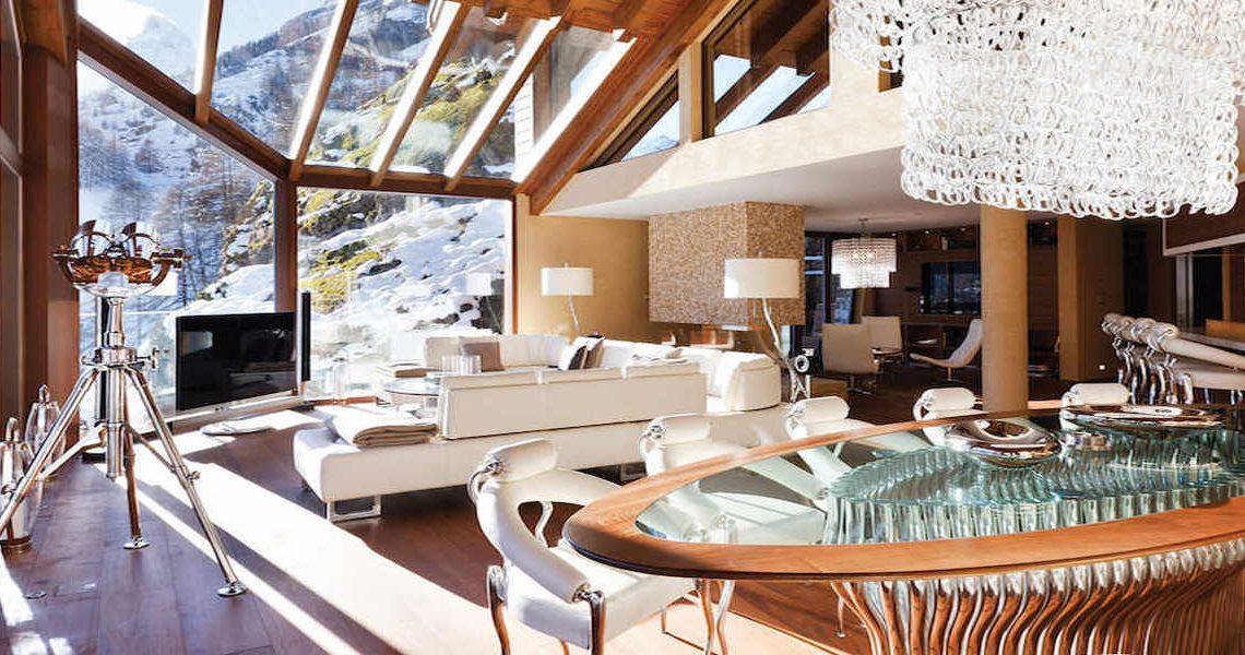 Luxury chalet Zermatt for rent with Ultra Luxury 5 star service slider
