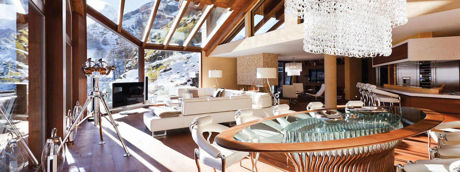 Luxury chalet Zermatt for rent with Ultra Luxury 5 star service