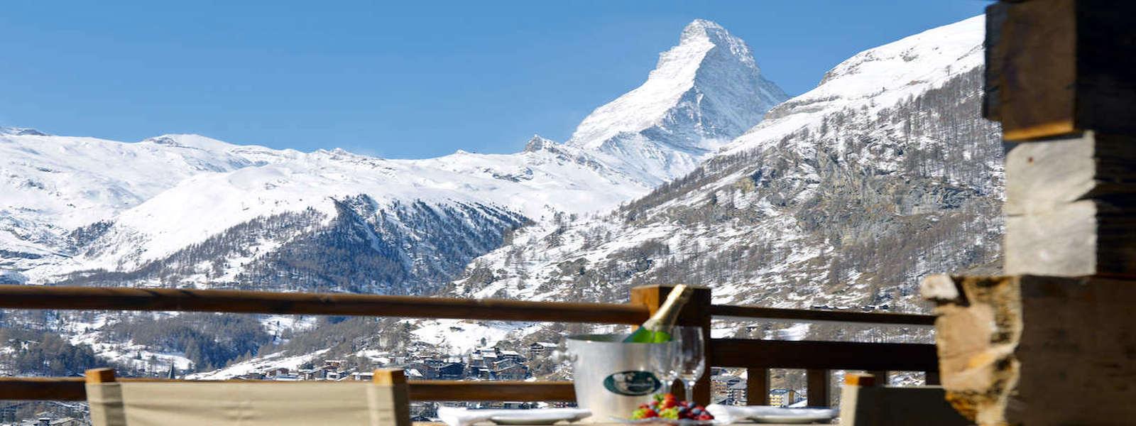 Luxury Chalet in Zermatt for Rent with Matterhorn view