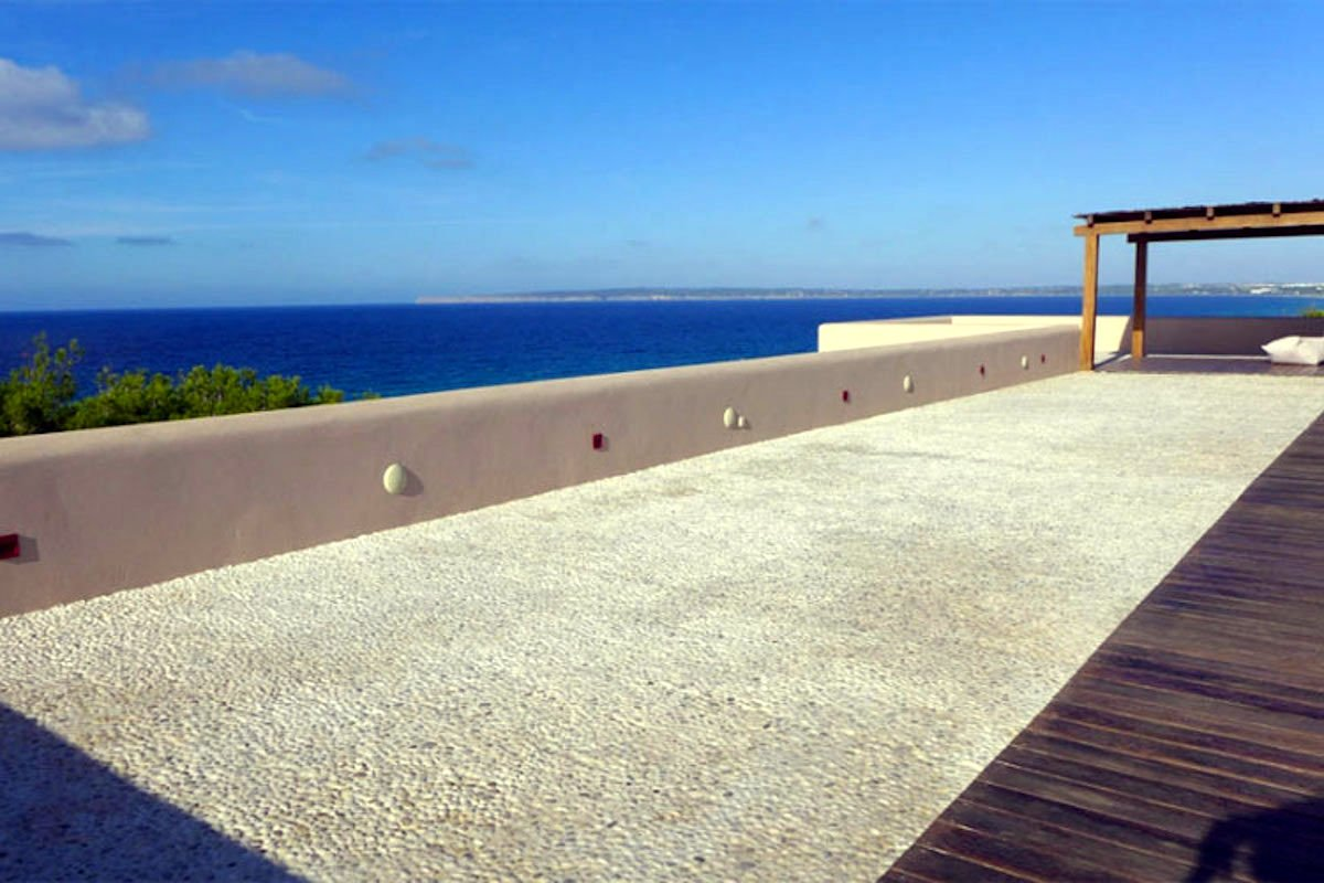 Waterfront villa Formentera rent with 2 pools