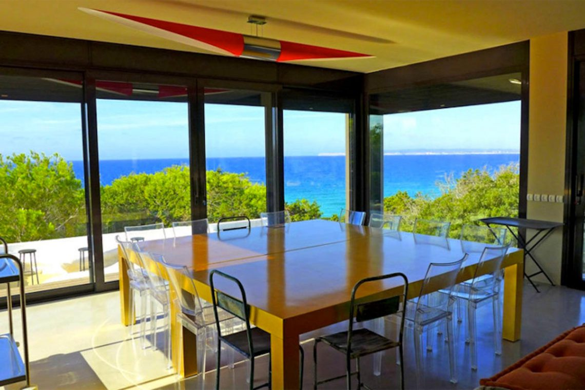 Waterfront villa Formentera rent with 2 pools 07