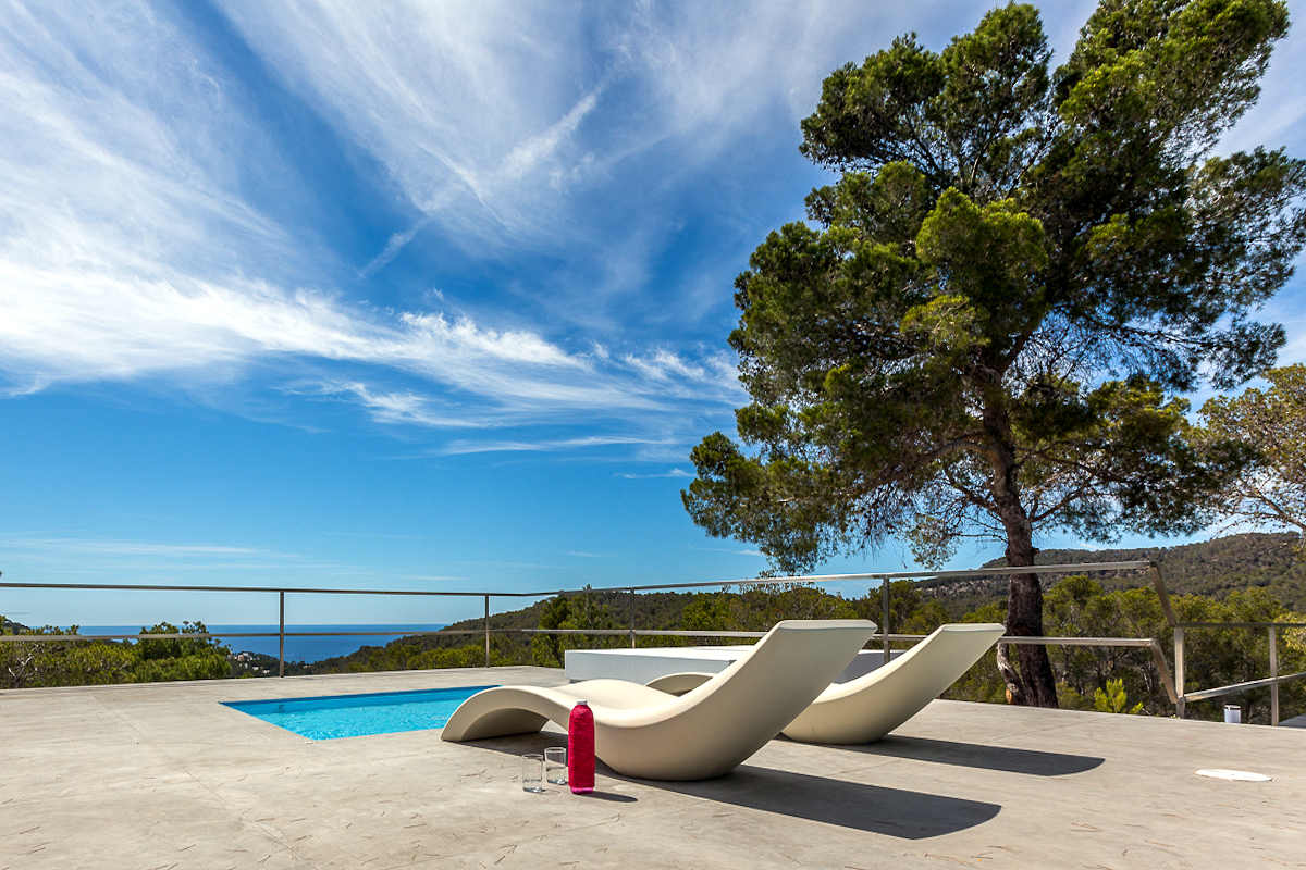 Luxury villa Ibiza rent with infinity pool and great sea views