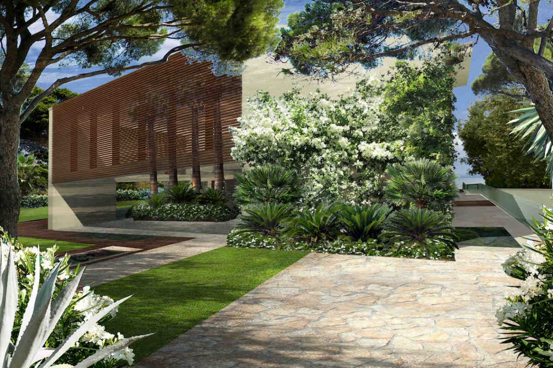 Approved project for waterfront villa Lake Garda in Sirmione 06