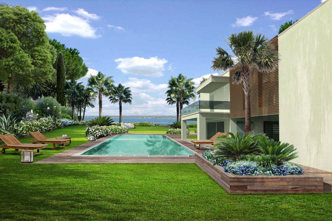Approved project for waterfront villa Lake Garda in Sirmione 10