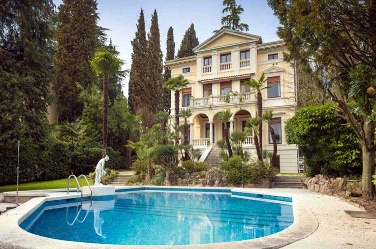 Waterfront Historic Villa Garda Lake for Sale