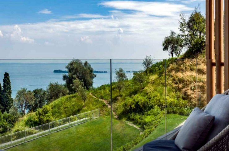 Villa at Lake Garda with modern design for sale