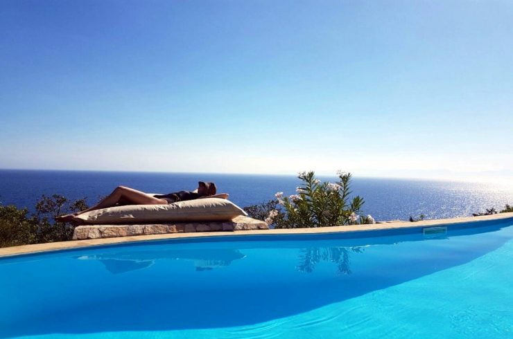 Villa Sardinia rental waterfront with pool