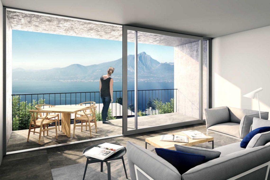 Lake Garda villa lake view 04