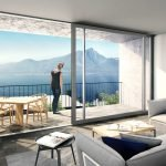 Lake Garda villa lake view for sale with swimming pool